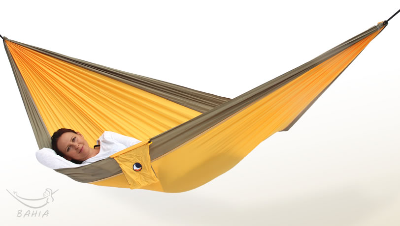 Hamac de voyage L jaune-kaki