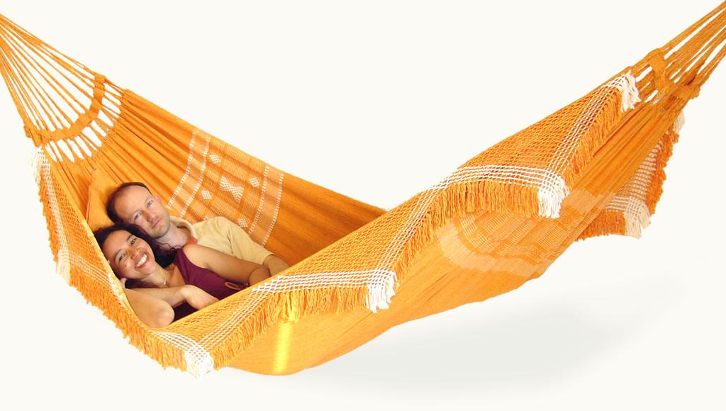 Handgewebte Hängematte Princesa orange XL